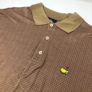 Masters Shirts - Masters Clubhouse Collection Geometric Polo Shirt